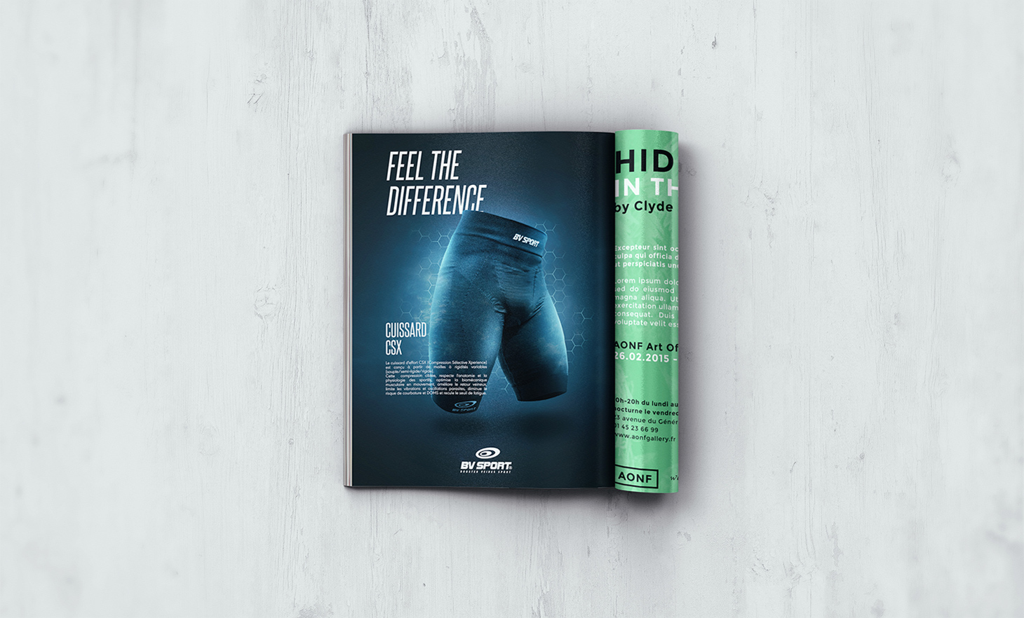 BV Sport mockup advertising magazine