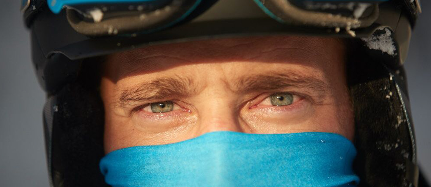 Close up portrait of a man with emotional eyes