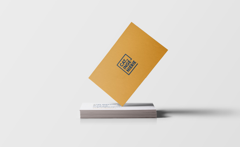 Business card mockup logo