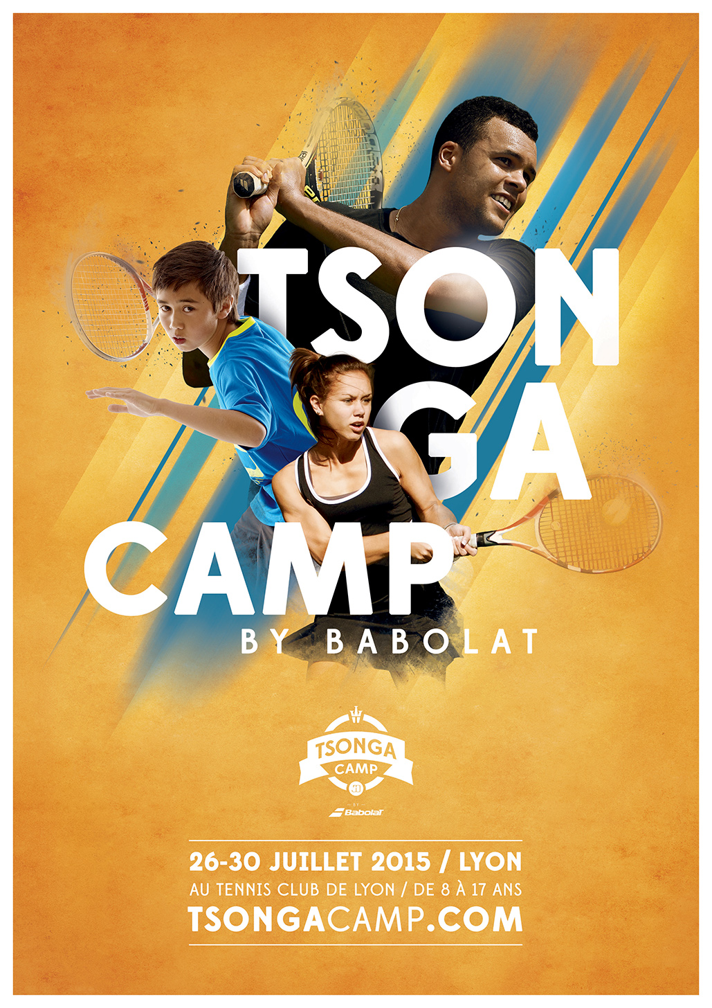 Key visual for the Tsonga Camp, a tennis academy with Babolat in Lyon